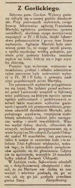 wybory Sękowa 1932