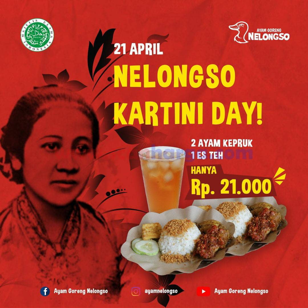Promo Ayam Goreng Nelongso Spesial DISKON Kartini Day