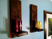 Pyrography Pallet Wood Wall Sconces