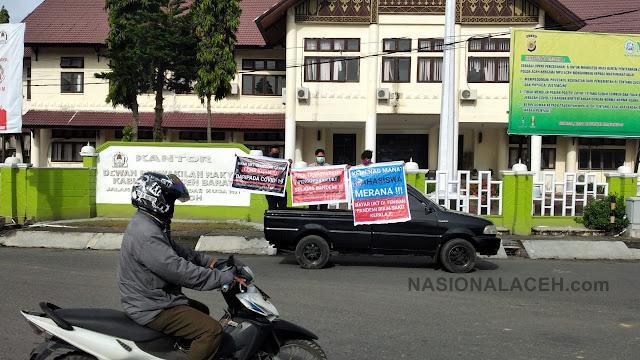 Gelar Demo di DPRK Aceh Barat, Mahasiswa UIN Ar-Raniry Diamankan