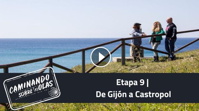 Etapa 9 De Gijón a Castropol Caminando sobre las olas