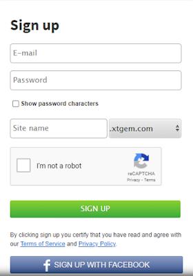 Xtgem SignUp Form