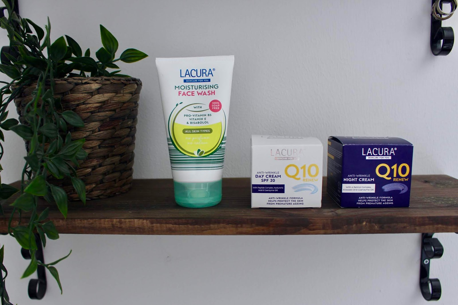 Lacura skincare products,