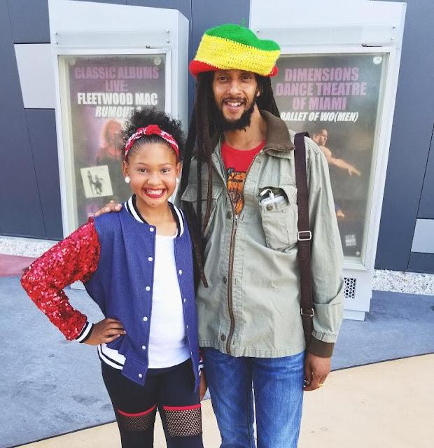 Julian Marley and his daughter Caveri Marley