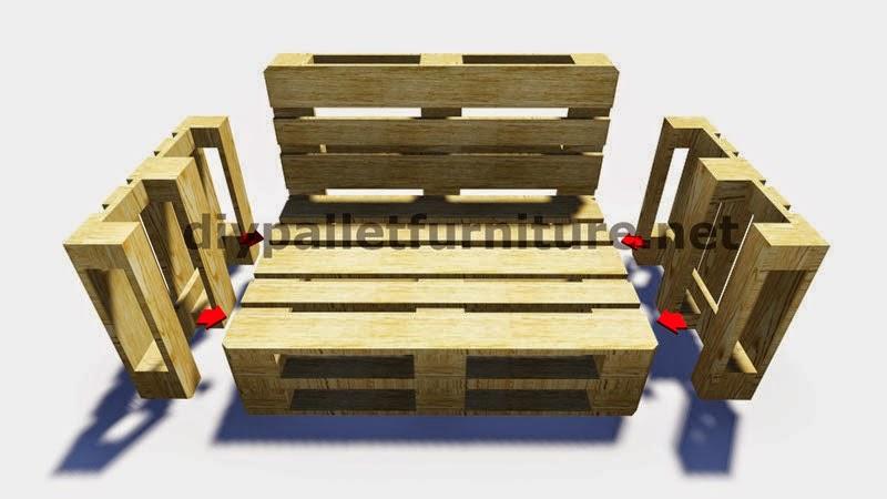 Como Hacer Un Sofa De Palets Con Respaldo Y Reposabrazos