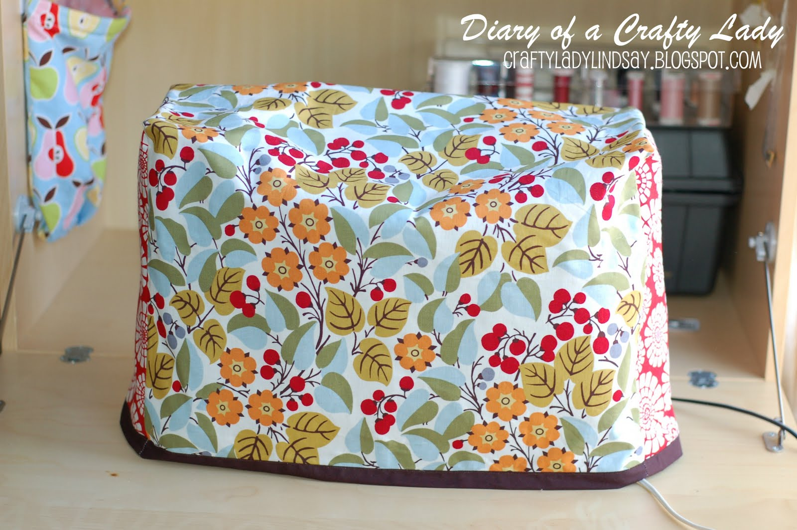 Diary of a Crafty Lady: Sewing Machine Cover