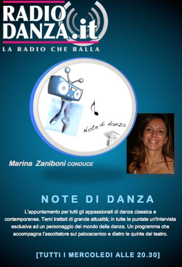 Note di danza, l'appuntamento su Radiodanza del mercoledì sera