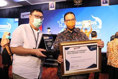 Dukung Inovasi Transparansi Belanja, Pemprov DKI Jakarta Raih Penghargaan dari LKPP RI