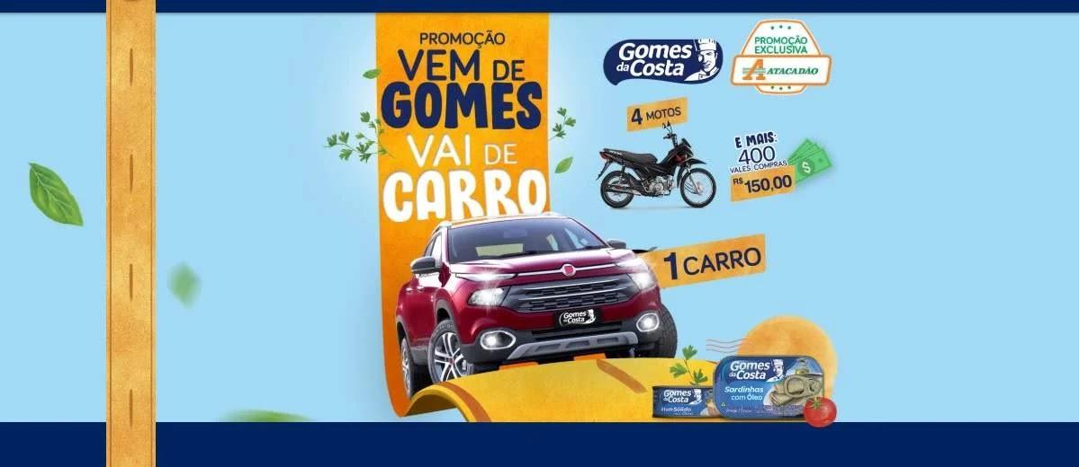 Promoção Atacadão Vem de Gomes Vai de Carro, Motos e Prêmios