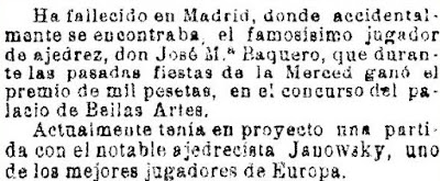 Recorte de La Vanguardia, 23/1/1905