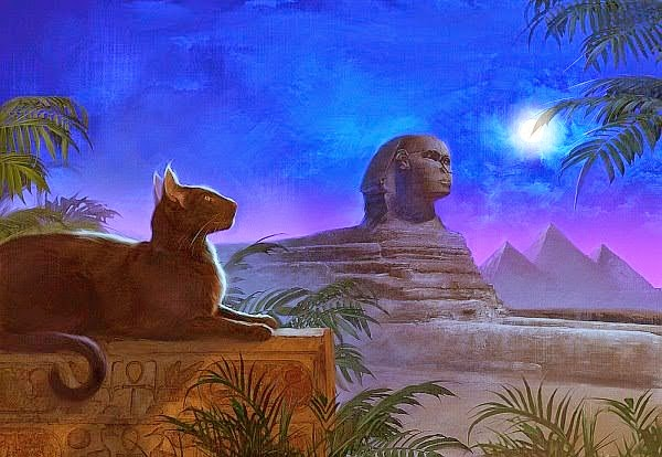 When Gods Walked the Earth Among Humans Sphinx%2Bpyramids%2Band%2Bcat