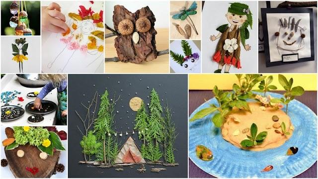 Δημιουργικές Κατασκευές - Χειροτεχνίες για Παιδιά από Φυσικά Υλικά