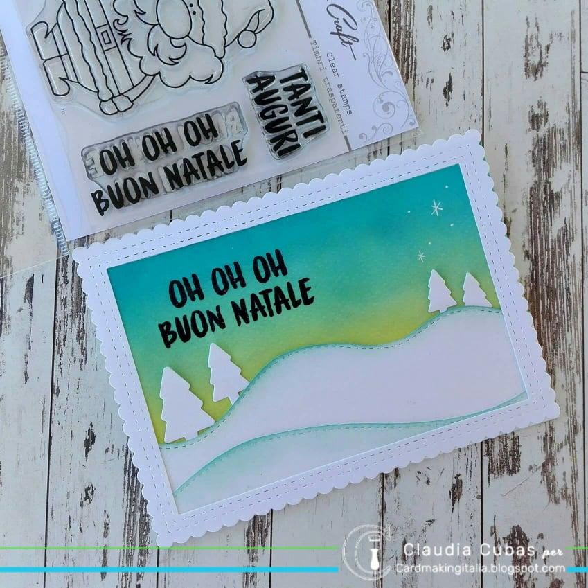 Timbro clear silicone /È nato cardmaking scritte scrapbooking