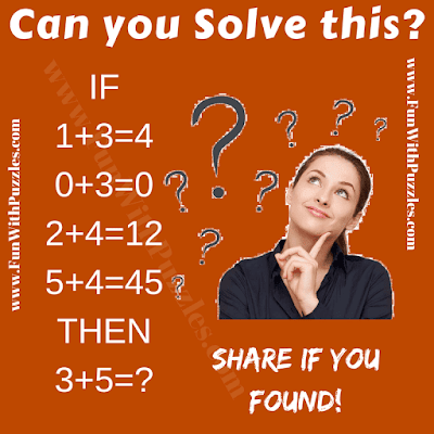 This is fun logical puzzle for kids in which one has to for logical formula which relates the numbers in the given number equations