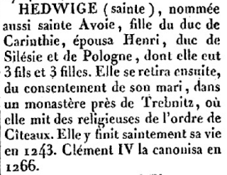 Vie de Sainte Hedwige
