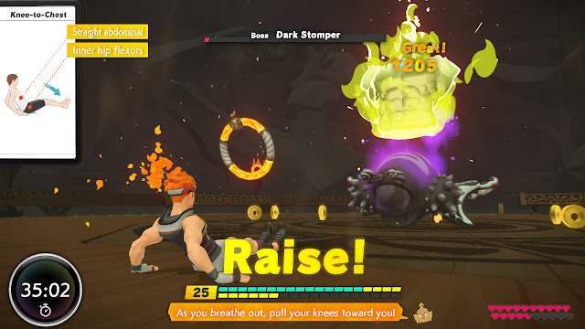 Ring Fit Adventure Knee-to-Chest Dark Stomper World 37 miniboss
