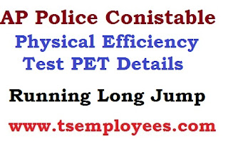 AP Police Conistable Physical Efficiency Test PET Details