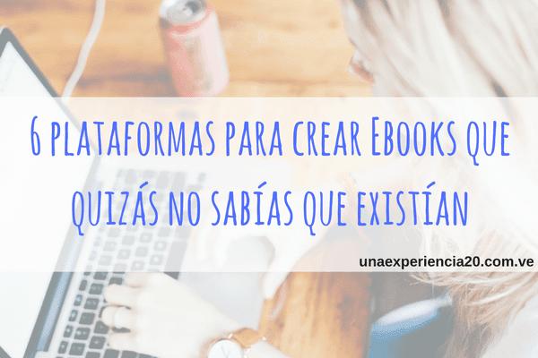 Plataformas para crear ebooks