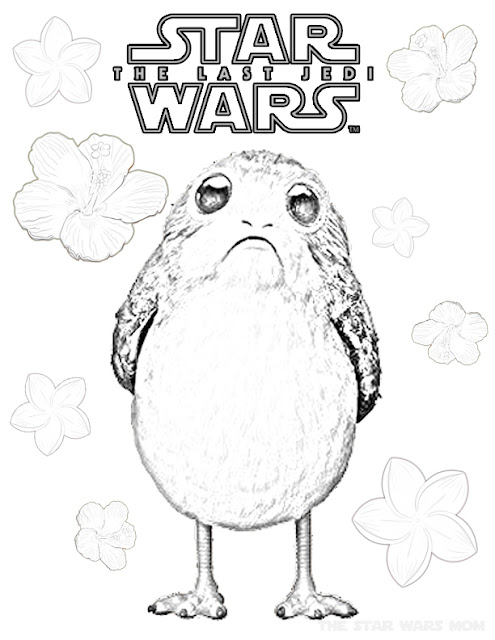 Flowers for Porg - Star Wars Porgs Coloring Sheet