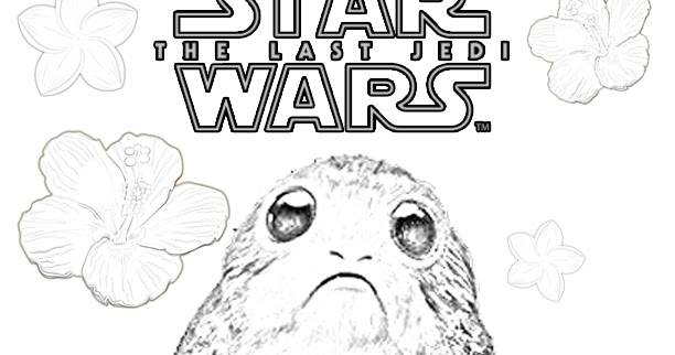 Flowers For Porg Springtime Coloring Page The Star Wars Mom