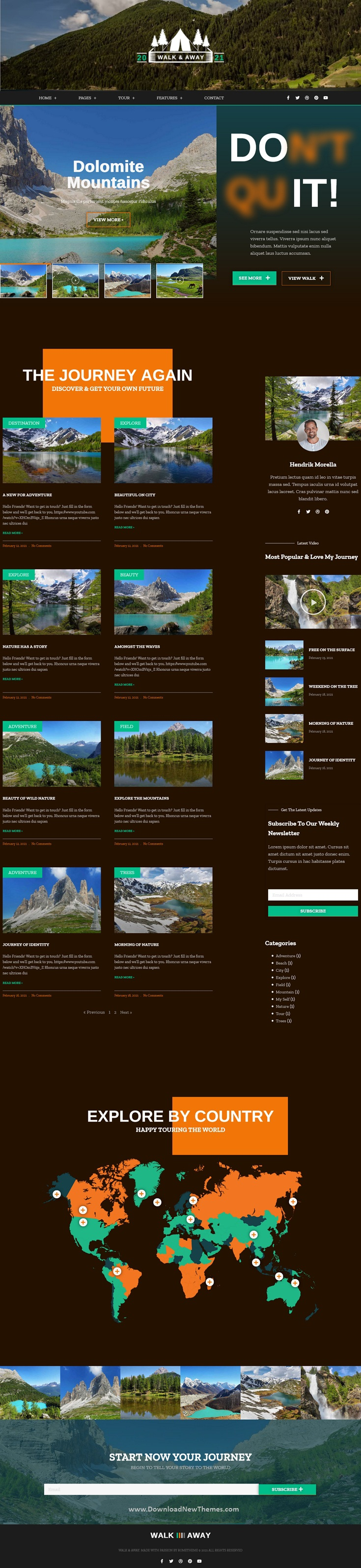 Travel Blog & Tours Elementor Template Kit