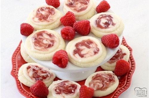 Raspberry Meltaway Cookies