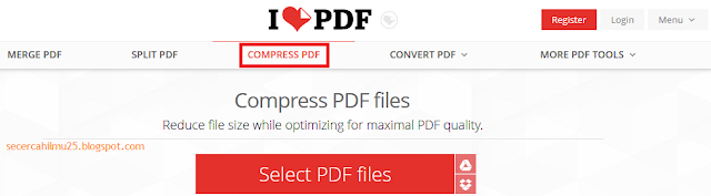 pada postingan kali ini admin ingin membuatkan info mengenai  Cara Convert File dan Memperkecil Ukuran File Menggunakan ILovePdf