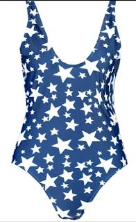 maillot de bain étoiles