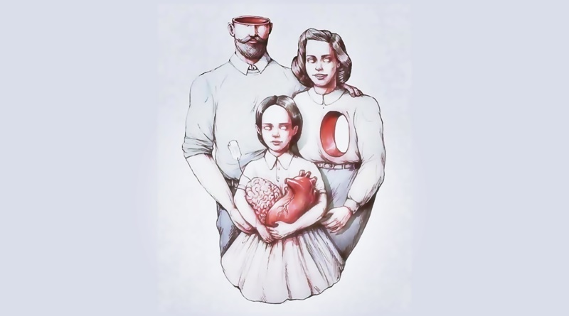 criança com os pais