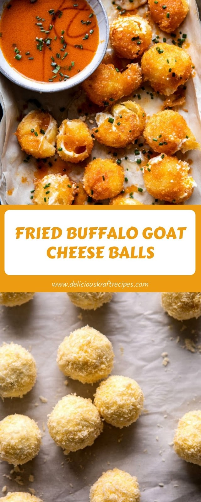FRIED BUFFALO GOAT CHEESE BALLS