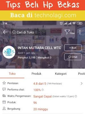 Penjual Hp Bekas Terpercaya di Toko Online