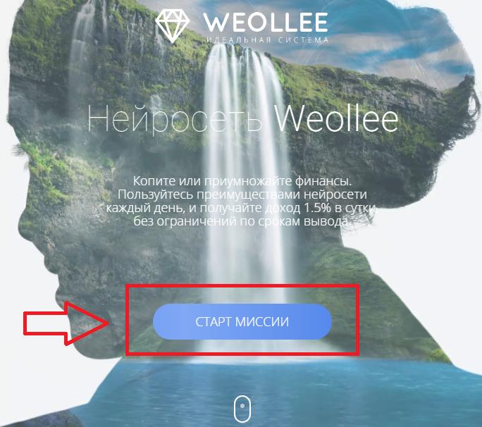 Регистрация в Weollee