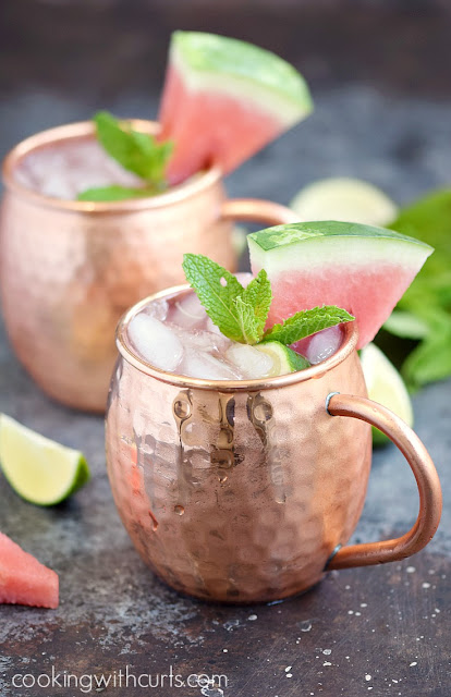 Watermelon Moscow Mule Summer Cocktail Recipe