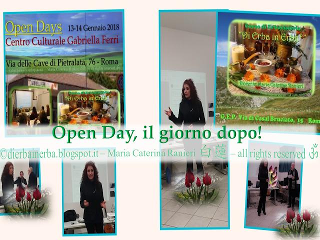 """Open Day del Corso di Erboristeria """"Di Erba in Erba©"""" il giorno dopo!"""