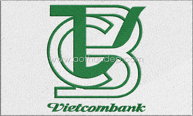 Vietcombank computerized embroidery logo
