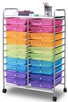 Giantex 20 Drawer Rolling Storage Cart