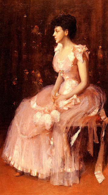 William Merritt Chase - Portrait of a Lady in Pink