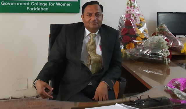 Dr. Narender Kumar, the new Principal of State Women's College, Faridabad, handled the workload