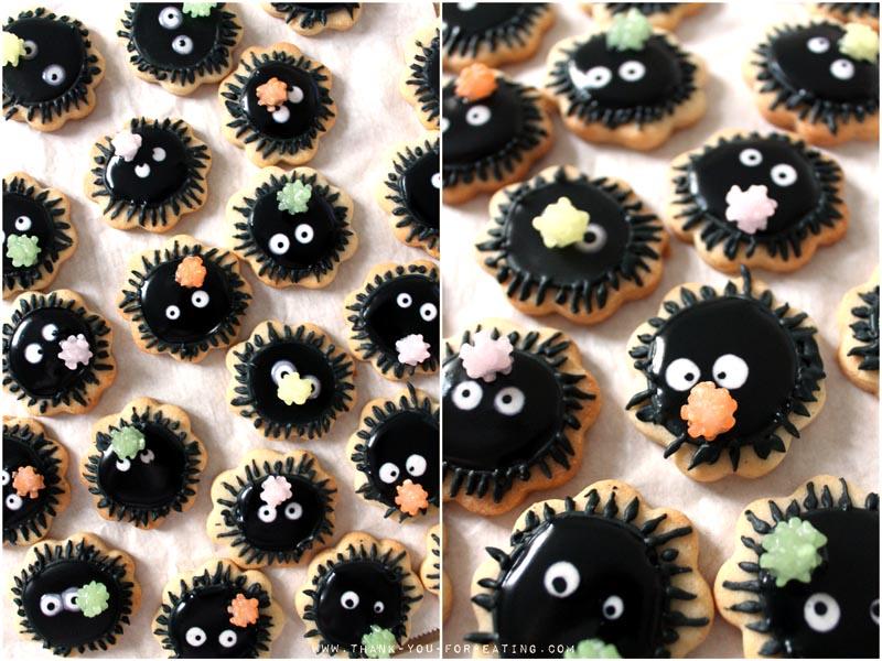 Rußmännchen Cookies - Susuwatari Cookies