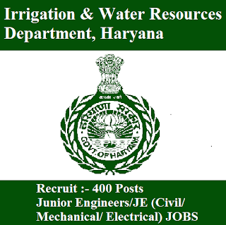 Irrigation & Water Resources Department, HID Haryana, HID, HID Answer Key, Answer Key, hid haryana logo