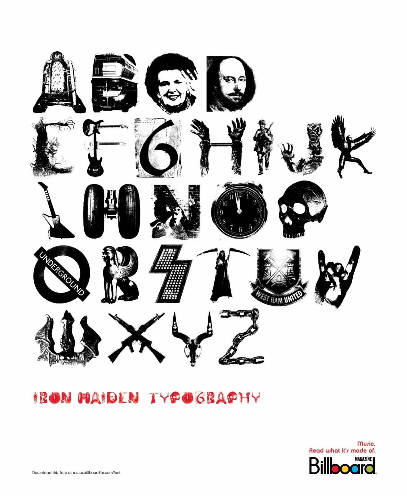 ADC STUDIO: 搖滾字體《 Billboard Fonts