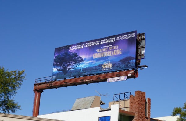 Black Panther 2018 awards nominee FYC billboard