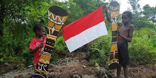 Warga dan Anak-Anak Papua Gemakan HUT ke-76 Kemerdekaan RI