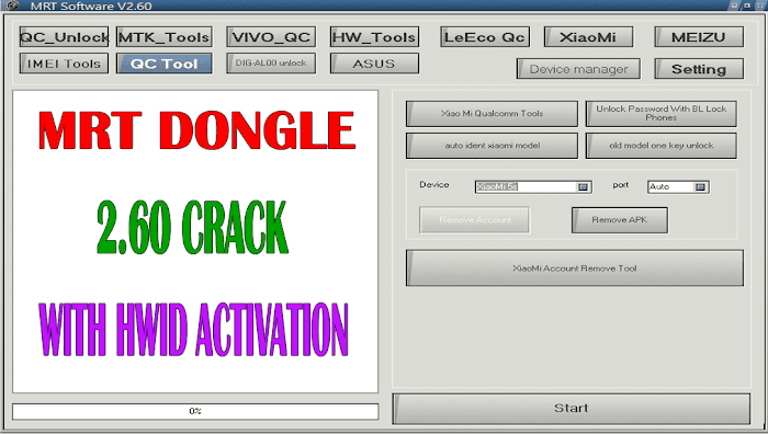 MRT Dongle 2.60 Crack With HWID Activation (Premium Version)