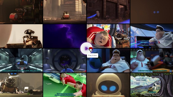 Screenshots Download Film Gratis WALL-E (2008) BluRay 480p MP4 Subtitle Indonesia 3GP Free Full Movie Streaming Hardsub Nempel