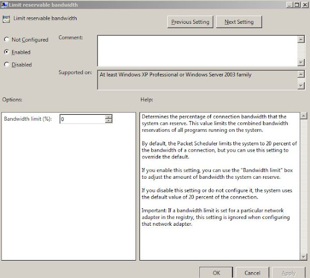 QoS Settings to Fix Slow Internet Speed in Windows