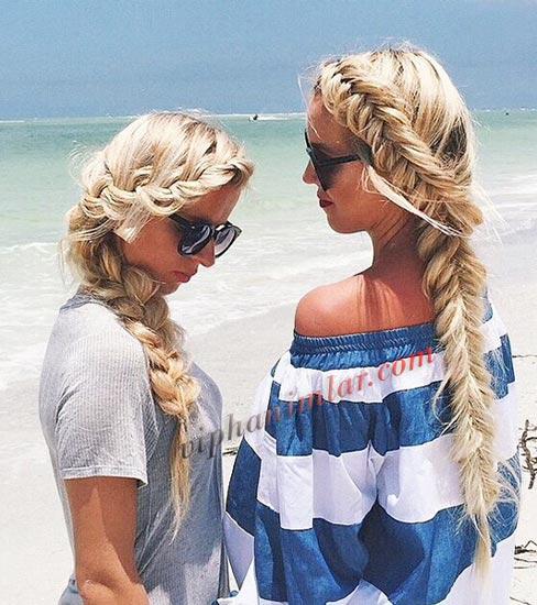 Örgü plaj için saç modelleri - www.viphanimlar.com