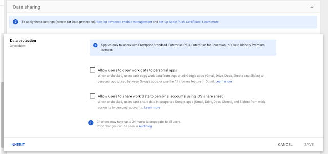New iOS Data Protection setting protects data sharing between Google Workspace and personal accounts 2
