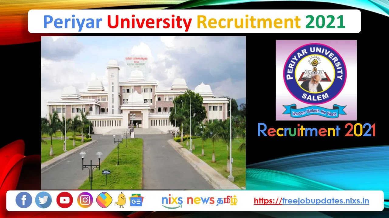 Periyar University Recruitment 2021 05 Field Assistant Posts - Apply Online