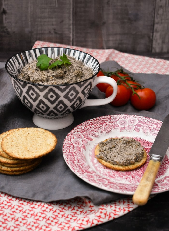 Scottish Mushroom and Chestnut Pâté with Oatcakes